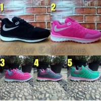 Sepatu Nike Free Run Running Women Wanita Pink Hitam Tosca Biru Dumang