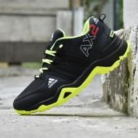 Sepatu Sport Adidas AX2 Goretex Hitam Hijau Stabilo Terbaru