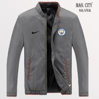 Jaket silver Parasut Logo Manchester City