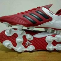 sepatu bola dewasa adidas copa socer original premium red black 39-44