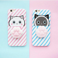 FREE POP SOCKET + IPHONE OPPO SQUISHY CAT CASE