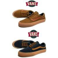 Sepatu Vans old skool sol gum navy coklat hitam maroon abu