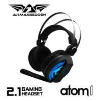 Headset Gaming Armageddon Atom 1....Warranty 1 years