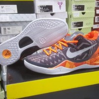 Sepatu Basket Nike Kobe 8 BHM Black History Month Orange Black Hitam