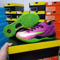 Sepatu Basket Nike Kobe 8 Mambacurial Pink Hijau Putih Green White