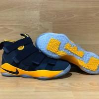Sepatu Basket Nike Lebron Soldier 11 Cavs Navy Blue Biru Dongker