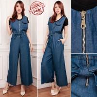 SB Collection Celana Panjang Kulot Ika Overall Jeans Jumpsuit Wanita
