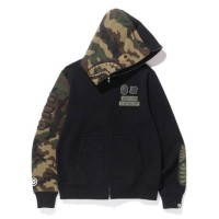 BAPE x Undefeated woodland camo shark full zip hoodie