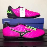 Sepatu Futsal Mizuno Rebula V3 IN Pink Glo Black P1GF178564 Original
