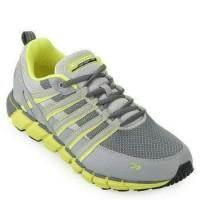 Murah Sepatu Running (Spotec Storm) Grey/Citroen Premium
