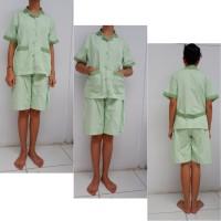 Baju Seragam Suster / Seragam Baby Sitter Celana Pendek Kulot