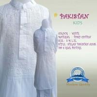 baju koko anak/stelan baju muslim anak/baju umroh anak/baju koko putih