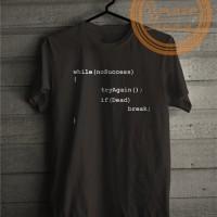 Kaos Tshirt Baju Combed 30S Distro Programmer Quote Jersey Futsal