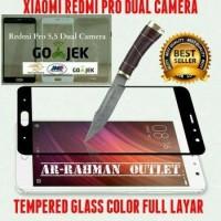 XIAOMI REDMI PRO 5 5 inchi dual Camera anti gores kaca film Full lay