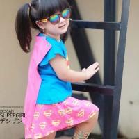 Baju Supergirl Dessan Bersayap + Rok