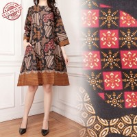 SB Collection Atasan Midi Dress  Connie Long Tunik Batik Wanita