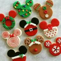 butter cookies dengan icing | kukis hias mickey mouse natal 2