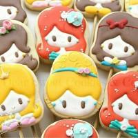 butter cookies dengan icing | kukis hias disney princess