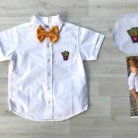 Baju Kemeja Putih Polos Lengan Pendek Anak Gymboree Murah