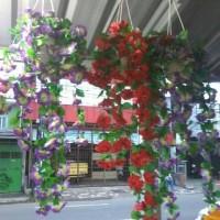 rambat gantung /bunga plastik
