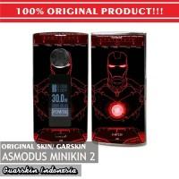 Original! Mod Vape Asmodus Minikin 2 / V2 Skin / Garskin - Ironman Red