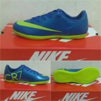 Sepatu futsal anak nike cr7 biru list ijo stabillo size 33-37