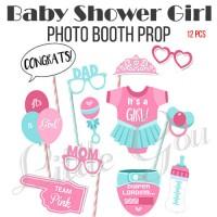 Baby Shower Girl Photo Booth Prop / Aksesoris Photobooth 12pcs