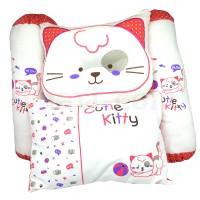 Bantal Bayi Motif Kucing / Baby Pillow Set Cutie Kitty (Isi 4 pcs)