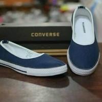 Sepatu slip on wanita converse sneakers kets flatshoes sekolah murah