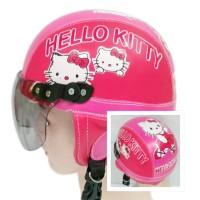 Helm Anak Chip Usia 1 sampai 4 tahun Motif Hello Kitty - Pink/Merah