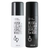 Musk By Lilian Ashley Body Spray 200ml - Deodorant Black & White