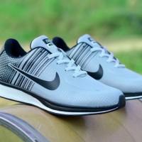 MURAH! Sepatu Lari Nike Flyknit Abu Hitam BUKAN airmax sb adidas yeezy