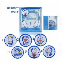 Headphone Karakter / Headset Cartoon / Earphone Bando - Motif Doraemon