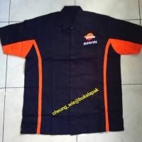 kemeja shirt,baju mekanik oli Repsol YPF free size
