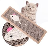 Papan Cakar Kucing Scratch Pad Board Gambar Tikus Mainan Kucing Aktif