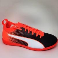 Sepatu futsal puma original Evo Knit IC black orange new 2018