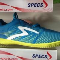 Sepatu futsal specs original apache in arctic blue solar slime