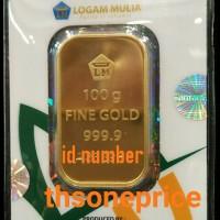 100 Gram Emas ANTAM | logam mulia | BERSERTIFIKAT | FINE GOLD 999,9%|