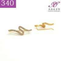Terbaru Anting Jalar Permata Lapis Emas Perhiasan Imitasi Gold 18K