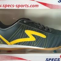 Sepatu Futsal Specs Horus In Dark Charcoal Yellow 2016 New Model Ori