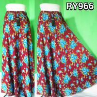 Rok Panjang Wanita / Rok Maxi / Rok Payung / Bawahan Muslimah / Rayon