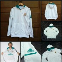 Jaket  Anthem Hoodie Real Madrid White 2017/2018