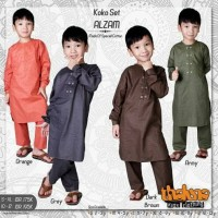 diskon 20% usia 2-9 baju kemeja koko anak pakistan ALZAM dari THALUNA