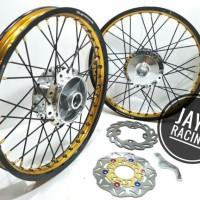 velg TDR ring 17 Supra x 125 - sonic 150 Sepaket lengkap plus stel