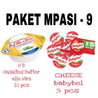 PAKET MPASI 9 Keju BABYBEL Cheese UB Unsalted Butter Elle Vire