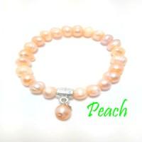 G8597 Fashion Natural Gelang Mutiara Air Tawar Asli - Natural Pearl