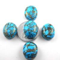 P8202 Batu Pirus Serat Emas (JUMBO) / Natural Turquoise