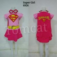 Baju Kostum Anak Cewek Supergirl Pink
