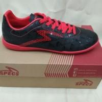 Sepatu Futsal Specs Quark In Black/Emperor Red