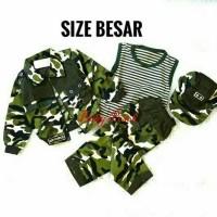 Baju Tentara Loreng Army Jaket Anak Laki-Laki Size Besar